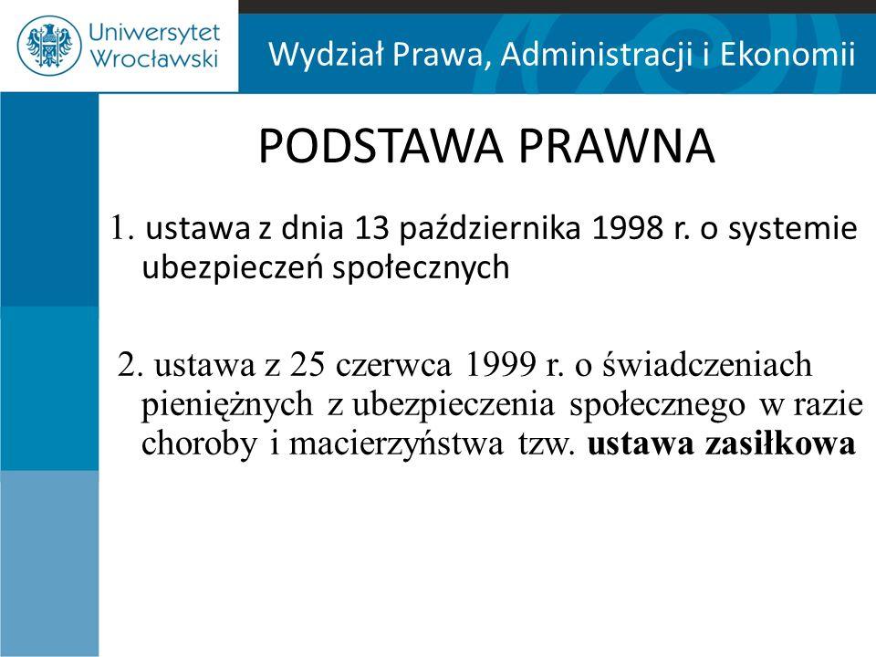 Wydział Prawa, Administracji i Ekonomii Wynagrodzenie chorobowe 80% ZASADA 100% ciąża np.