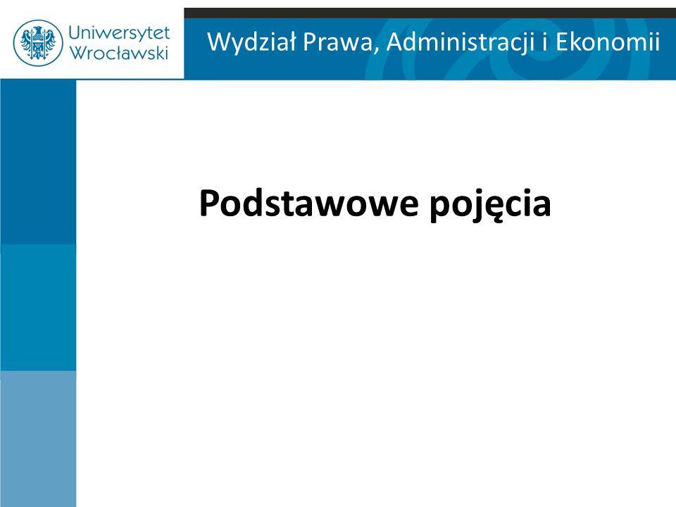 Wydział Prawa, Administracji i Ekonomii Podstawowe pojęcia