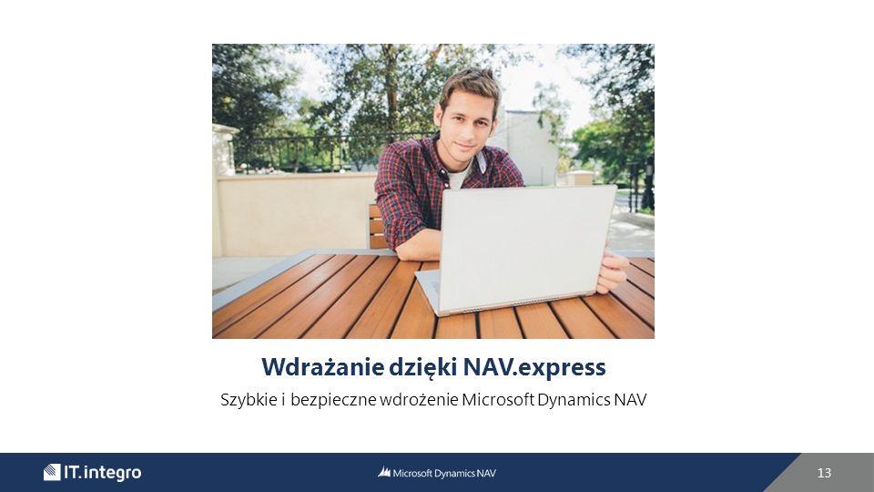 Wdrażanie dzięki NAV.express Szybkie i bezpieczne wdrożenie Microsoft Dynamics NAV 13