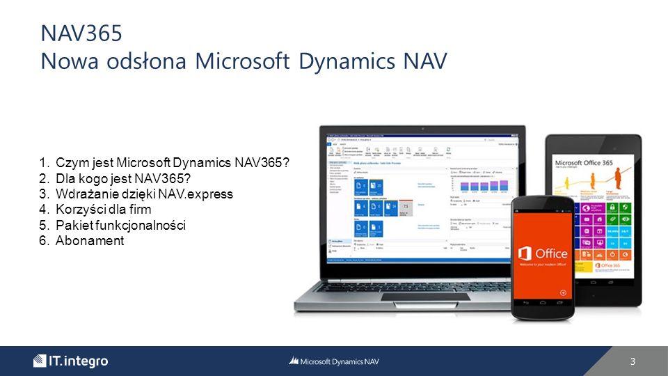 3 NAV365 Nowa odsłona Microsoft Dynamics NAV 1.Czym jest Microsoft Dynamics NAV365.