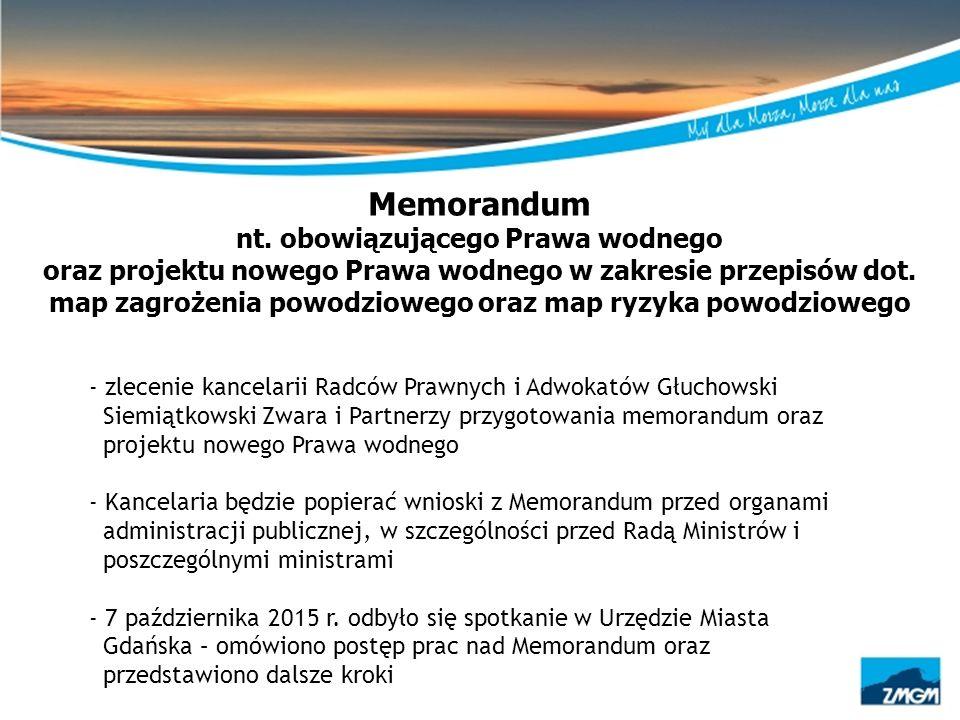 Memorandum nt. obowiązującego Prawa wodnego oraz projektu nowego Prawa wodnego w zakresie przepisów dot. map zagrożenia powodziowego oraz map ryzyka p