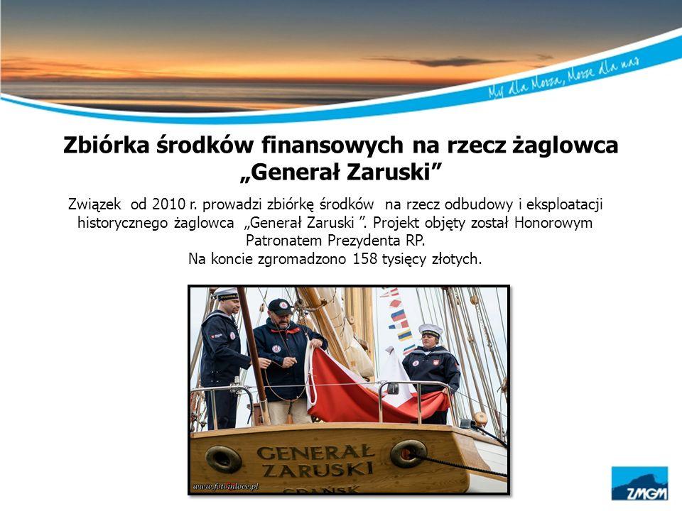 """Zbiórka środków finansowych na rzecz żaglowca """"Generał Zaruski"""" Związek od 2010 r. prowadzi zbiórkę środków na rzecz odbudowy i eksploatacji historycz"""