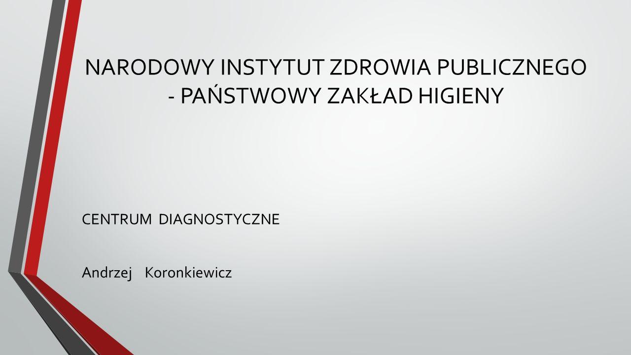 NARODOWY INSTYTUT ZDROWIA PUBLICZNEGO - PAŃSTWOWY ZAKŁAD HIGIENY CENTRUM DIAGNOSTYCZNE Andrzej Koronkiewicz