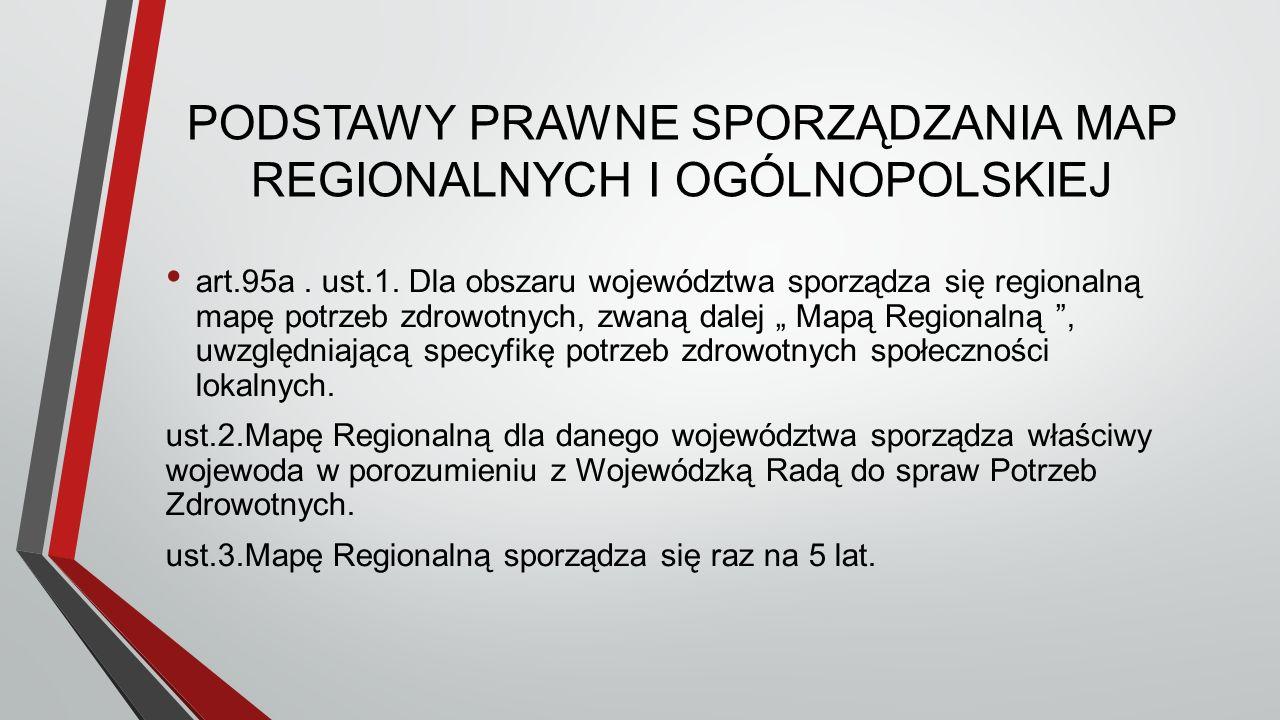 PODSTAWY PRAWNE SPORZĄDZANIA MAP REGIONALNYCH I OGÓLNOPOLSKIEJ art.95a.