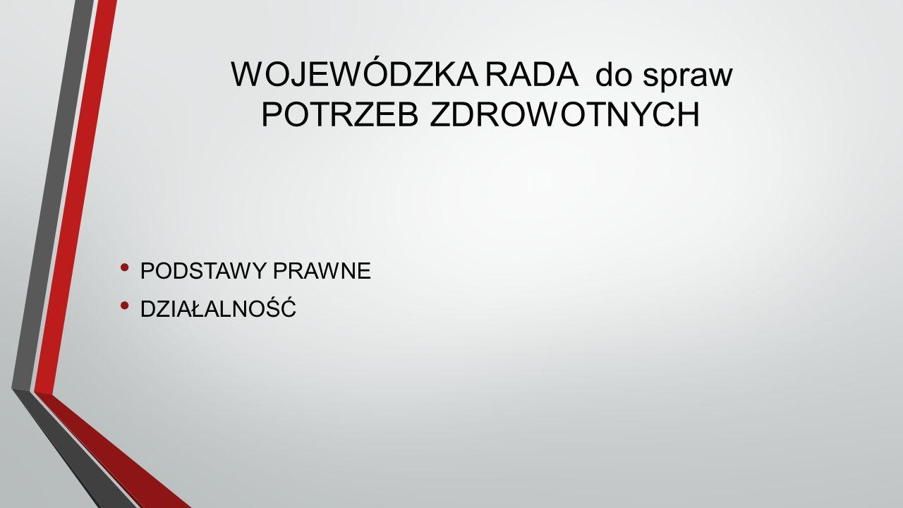 WOJEWÓDZKA RADA Podstawy prawne Art.95 b.ust. 1.