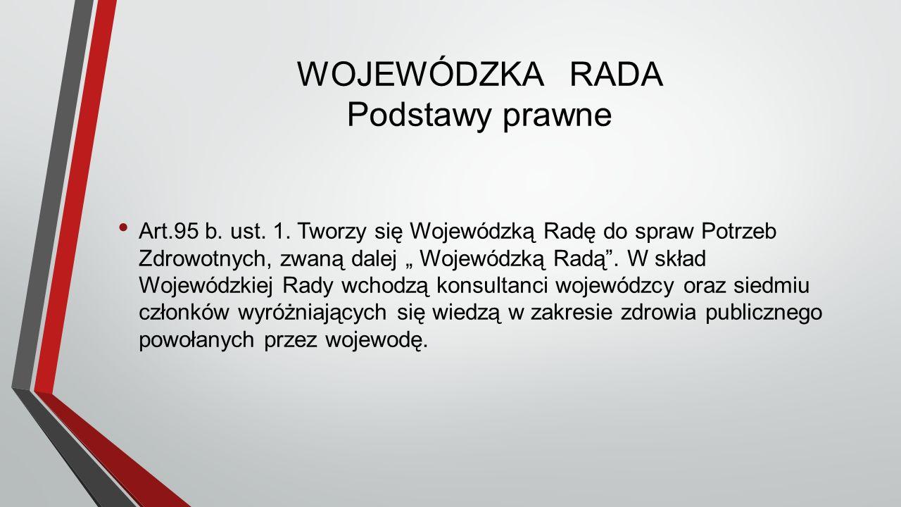 WOJEWÓDZKA RADA Podstawy prawne Art.95 b. ust. 1.
