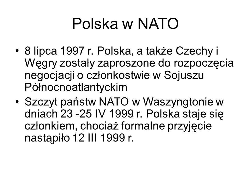 Polska w NATO 8 lipca 1997 r.