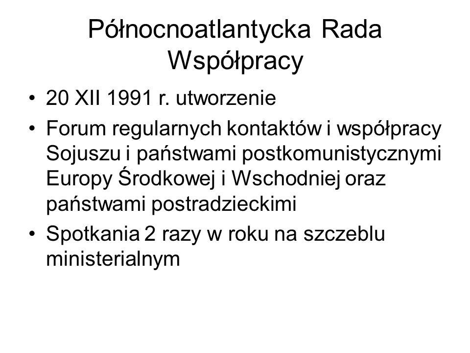 Północnoatlantycka Rada Współpracy 20 XII 1991 r.