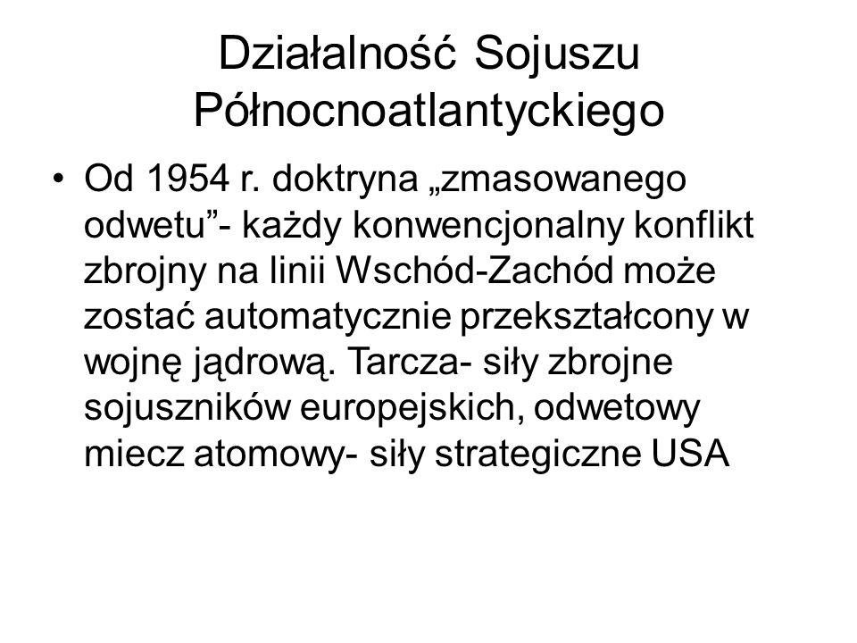 Działalność Sojuszu Północnoatlantyckiego Od 1954 r.