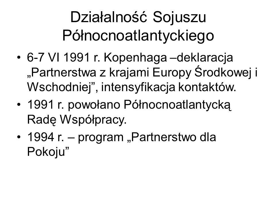 Działalność Sojuszu Północnoatlantyckiego 6-7 VI 1991 r.