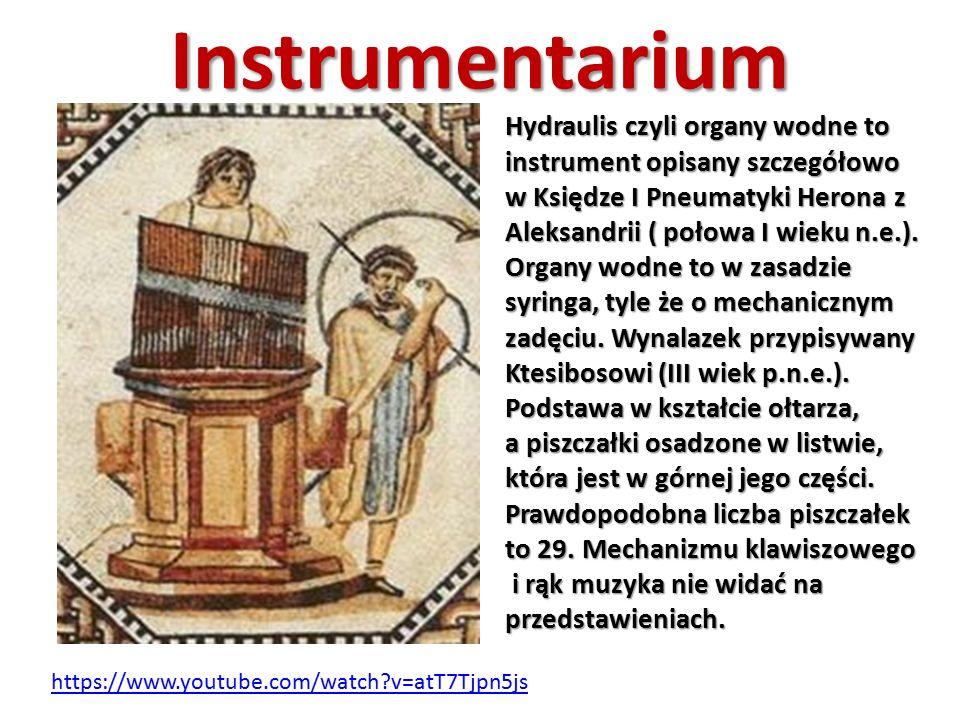Instrumentarium Hydraulis czyli organy wodne to instrument opisany szczegółowo w Księdze I Pneumatyki Herona z Aleksandrii ( połowa I wieku n.e.). Org