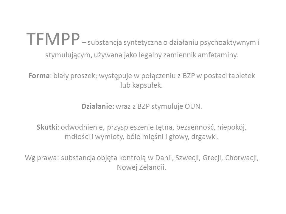 TFMPP – substancja syntetyczna o działaniu psychoaktywnym i stymulującym, używana jako legalny zamiennik amfetaminy.