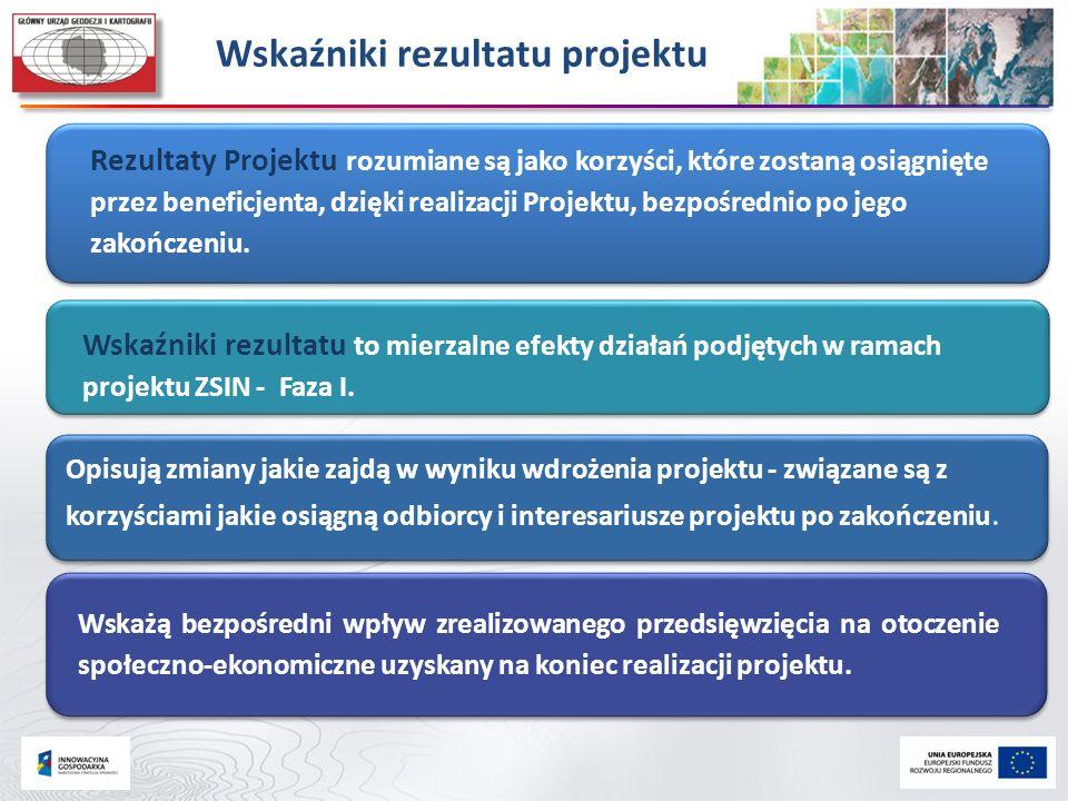 Rezultaty Projektu rozumiane są jako korzyści, które zostaną osiągnięte przez beneficjenta, dzięki realizacji Projektu, bezpośrednio po jego zakończen