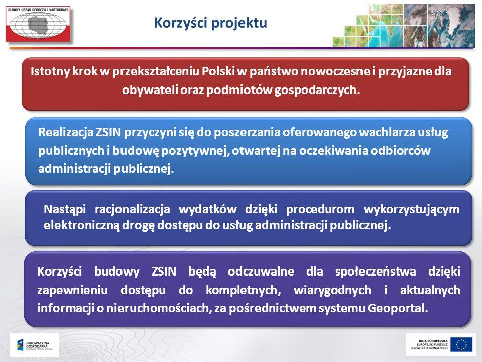 Korzyści projektu Realizacja ZSIN przyczyni się do poszerzania oferowanego wachlarza usług publicznych i budowę pozytywnej, otwartej na oczekiwania od