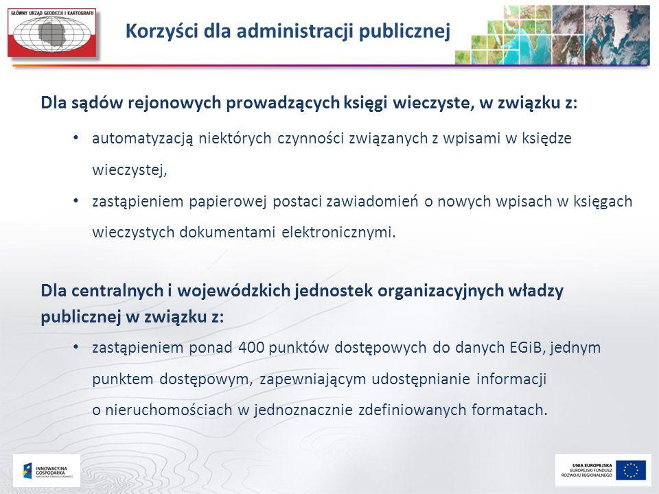 Dla sądów rejonowych prowadzących księgi wieczyste, w związku z: automatyzacją niektórych czynności związanych z wpisami w księdze wieczystej, zastąpi