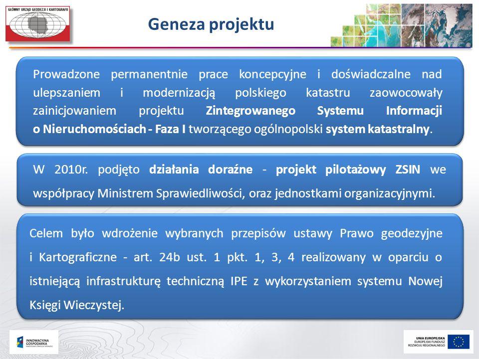 Prowadzone permanentnie prace koncepcyjne i doświadczalne nad ulepszaniem i modernizacją polskiego katastru zaowocowały zainicjowaniem projektu Zinteg