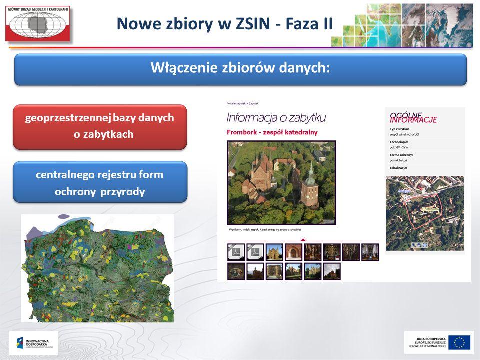 Włączenie zbiorów danych: centralnego rejestru form ochrony przyrody geoprzestrzennej bazy danych o zabytkach