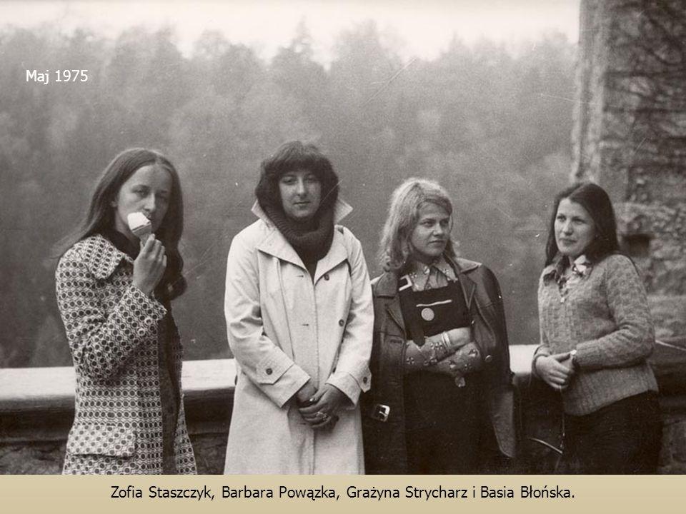 Maj 1975 Zofia Staszczyk, Barbara Powązka, Grażyna Strycharz i Basia Błońska.