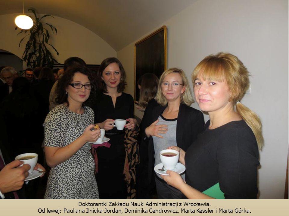 Doktorantki Zakładu Nauki Administracji z Wrocławia. Od lewej: Pauliana Ilnicka-Jordan, Dominika Cendrowicz, Marta Kessler i Marta Górka.