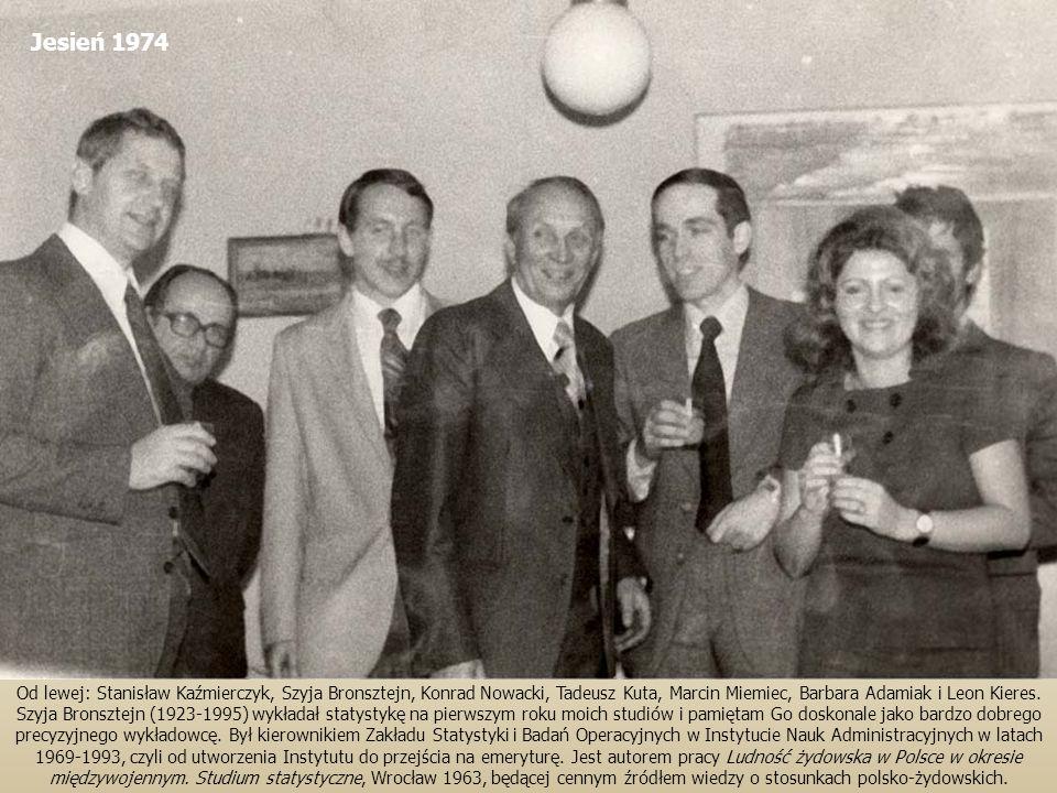 Od lewej: Stanisław Kaźmierczyk, Szyja Bronsztejn, Konrad Nowacki, Tadeusz Kuta, Marcin Miemiec, Barbara Adamiak i Leon Kieres. Szyja Bronsztejn (1923