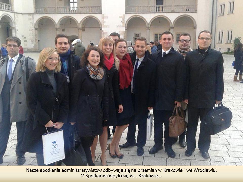 Nasze spotkania administratywistów odbywają się na przemian w Krakowie i we Wrocławiu. V Spotkanie odbyło się w… Krakowie…