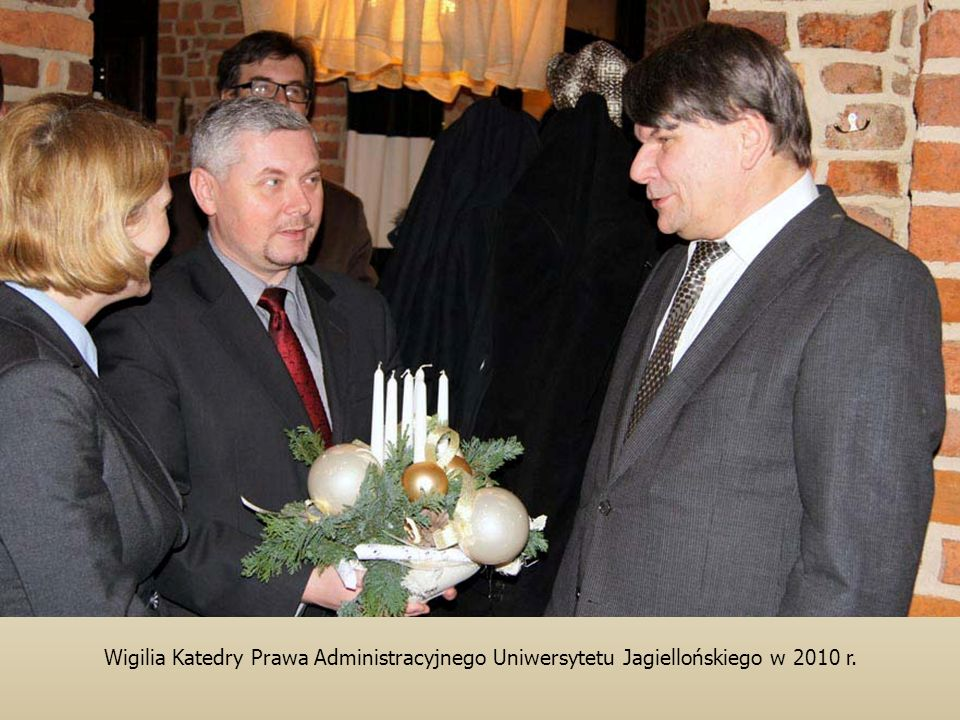 Wigilia Katedry Prawa Administracyjnego Uniwersytetu Jagiellońskiego w 2010 r.