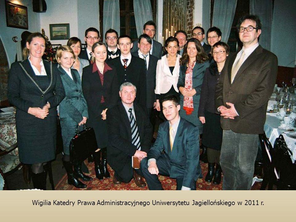 Wigilia Katedry Prawa Administracyjnego Uniwersytetu Jagiellońskiego w 2011 r.