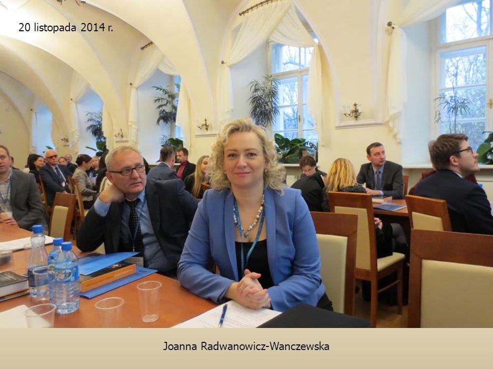 Joanna Radwanowicz-Wanczewska 20 listopada 2014 r.