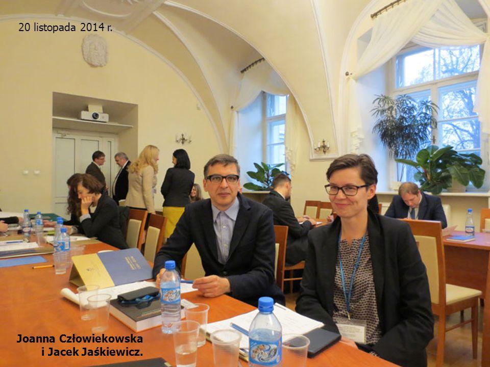 20 listopada 2014 r. Joanna Człowiekowska i Jacek Jaśkiewicz.