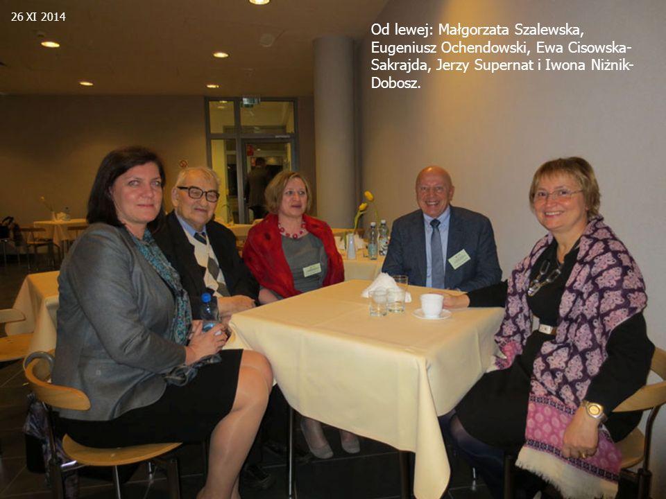 Od lewej: Małgorzata Szalewska, Eugeniusz Ochendowski, Ewa Cisowska- Sakrajda, Jerzy Supernat i Iwona Niżnik- Dobosz. 26 XI 2014
