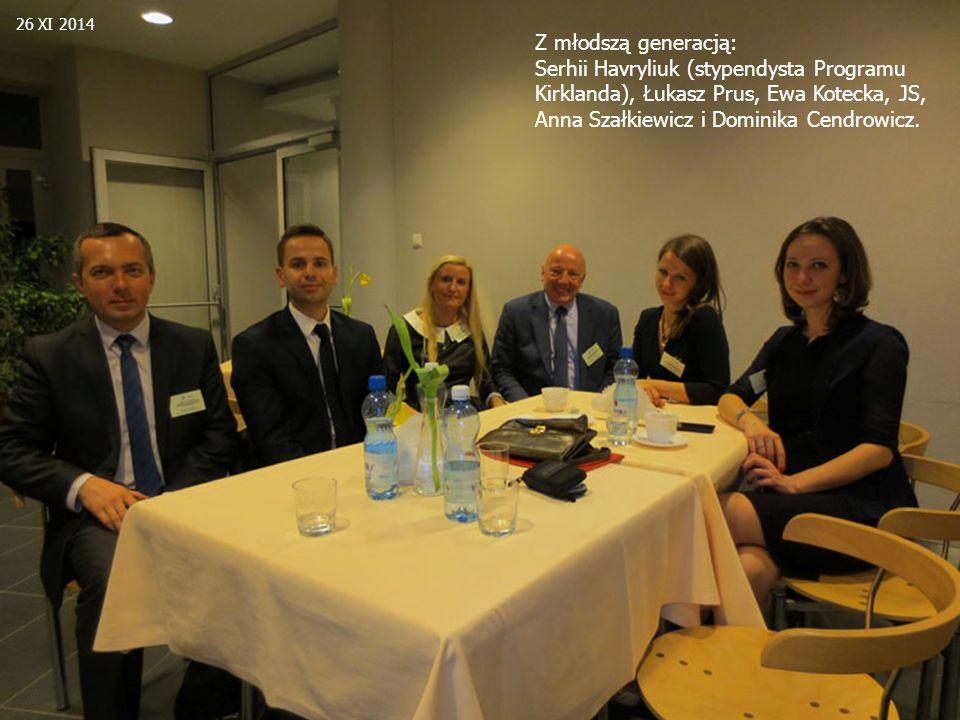 Z młodszą generacją: Serhii Havryliuk (stypendysta Programu Kirklanda), Łukasz Prus, Ewa Kotecka, JS, Anna Szałkiewicz i Dominika Cendrowicz.