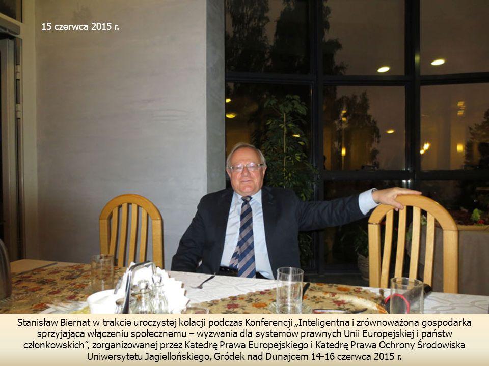 """Stanisław Biernat w trakcie uroczystej kolacji podczas Konferencji """"Inteligentna i zrównoważona gospodarka sprzyjająca włączeniu społecznemu – wyzwani"""