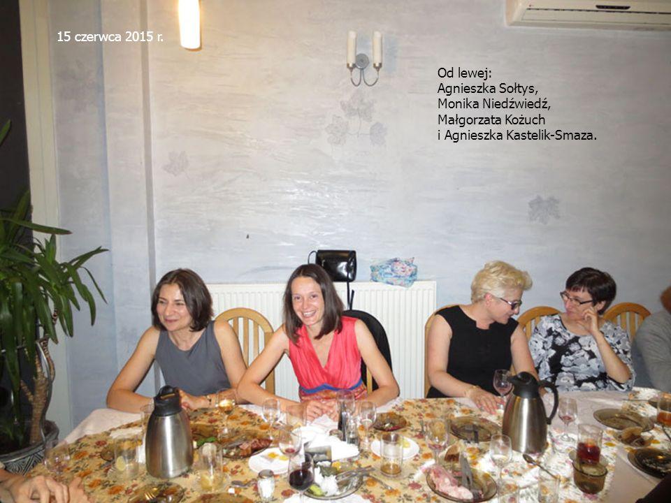15 czerwca 2015 r. Od lewej: Agnieszka Sołtys, Monika Niedźwiedź, Małgorzata Kożuch i Agnieszka Kastelik-Smaza.