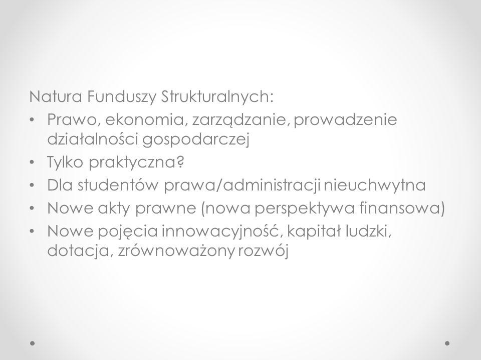 Natura Funduszy Strukturalnych: Prawo, ekonomia, zarządzanie, prowadzenie działalności gospodarczej Tylko praktyczna.
