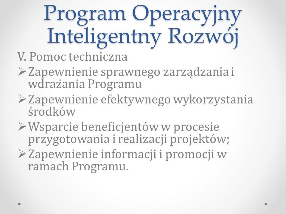 Program Operacyjny Inteligentny Rozwój V.