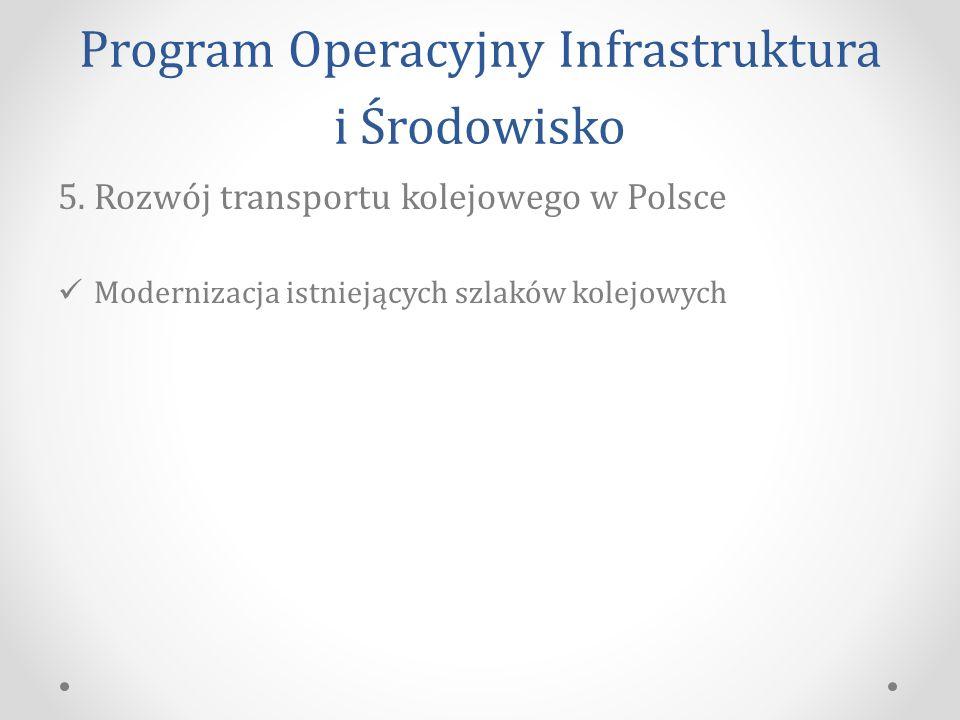 Program Operacyjny Infrastruktura i Środowisko 5.