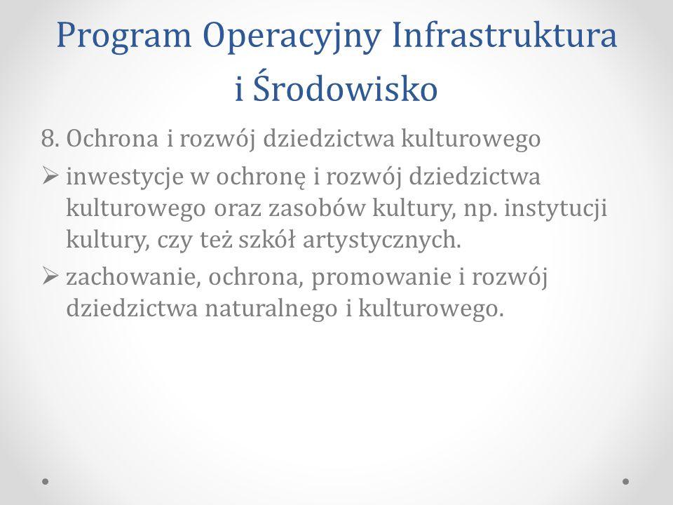 Program Operacyjny Infrastruktura i Środowisko 8.