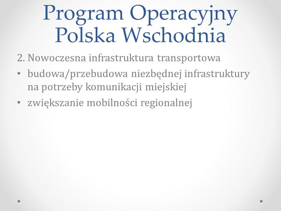 Program Operacyjny Polska Wschodnia 2.