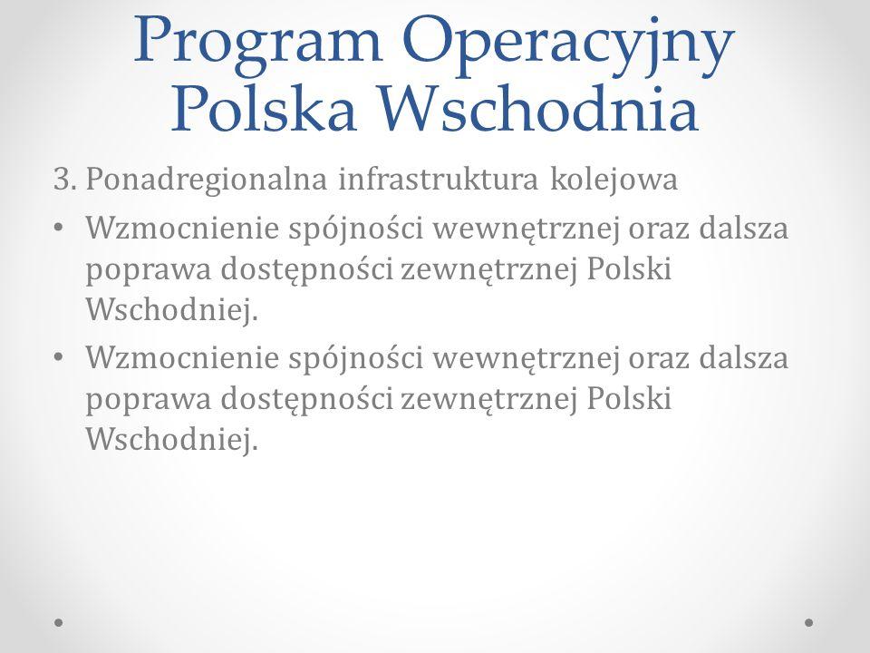 Program Operacyjny Polska Wschodnia 3.