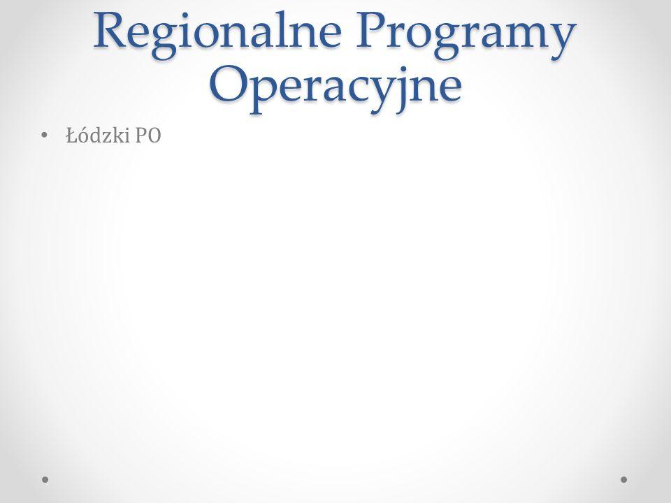 Regionalne Programy Operacyjne Łódzki PO