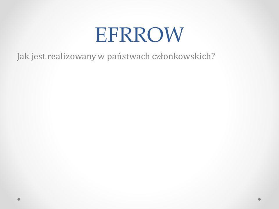 EFRROW Jak jest realizowany w państwach członkowskich?