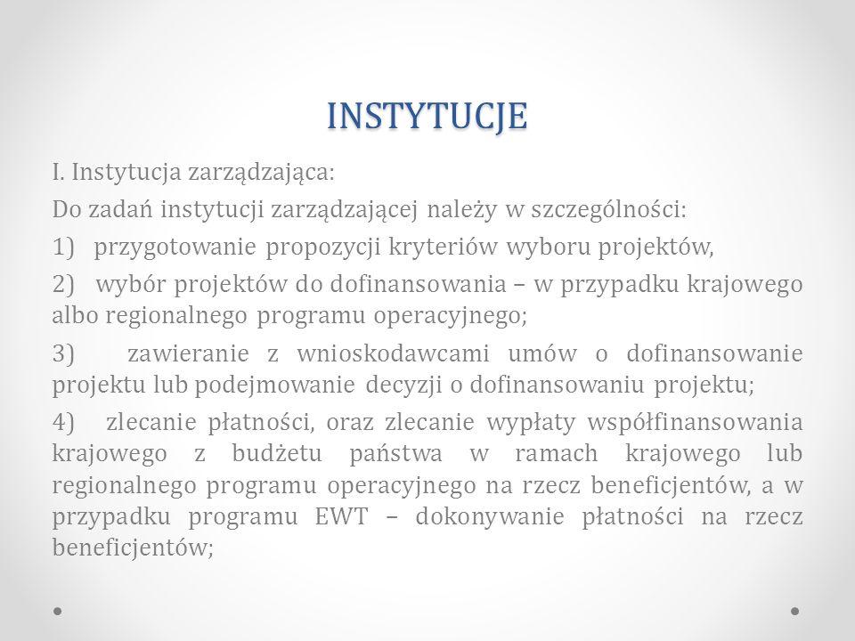 INSTYTUCJE I.