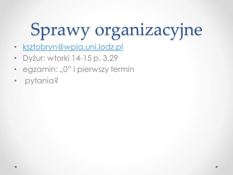 Art.29 procedura przyjmowania PO Przygotowywane są przez p.cz.