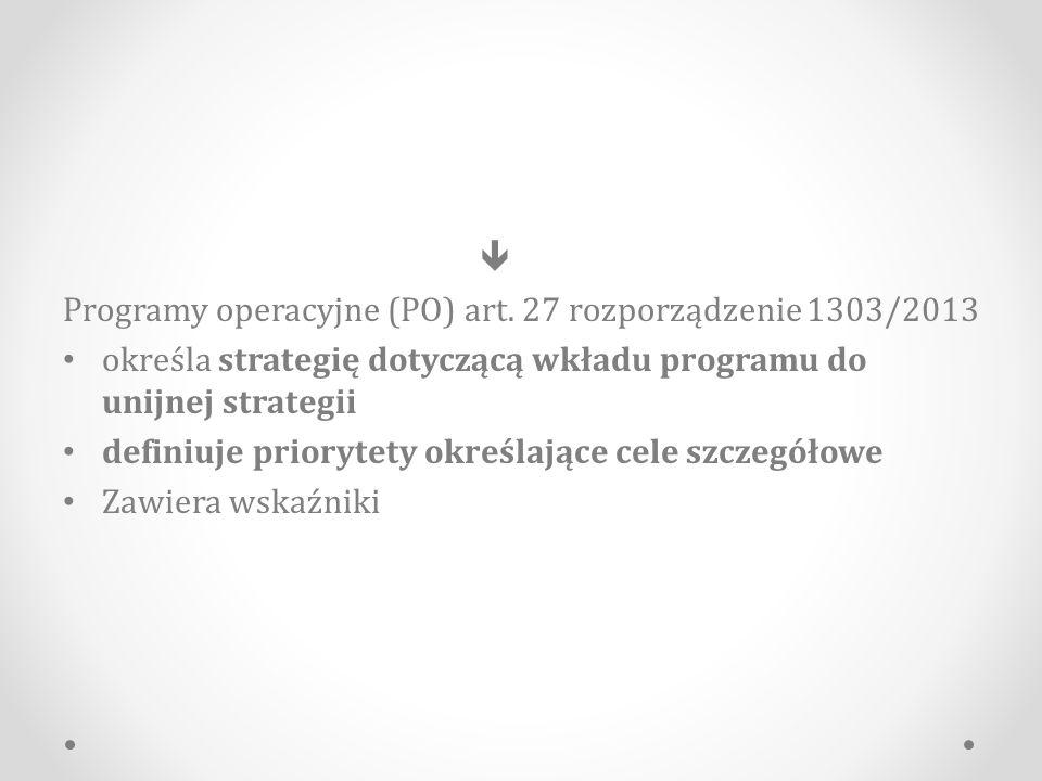 Programy operacyjne (PO) art.