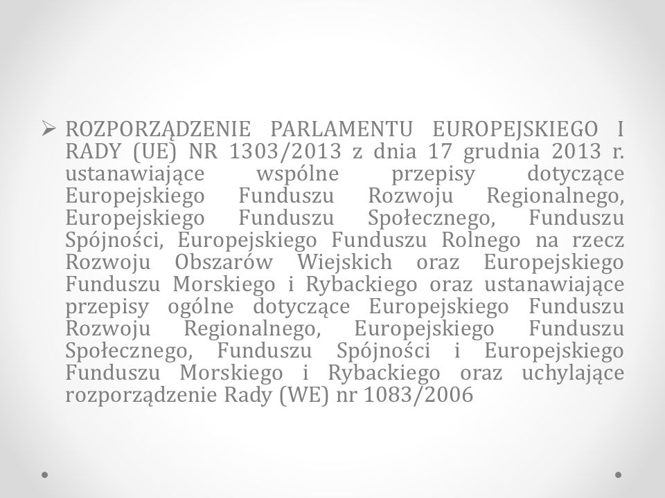 Fundusz Spójności (FS) 3.