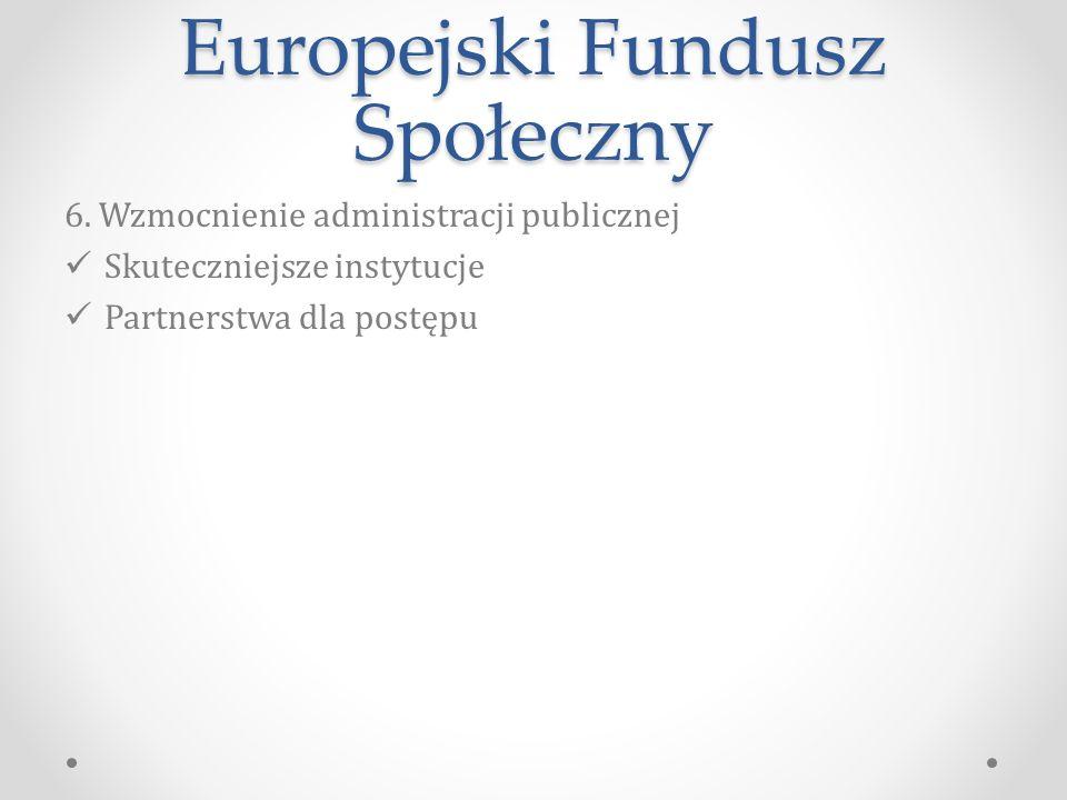 Europejski Fundusz Społeczny 6.