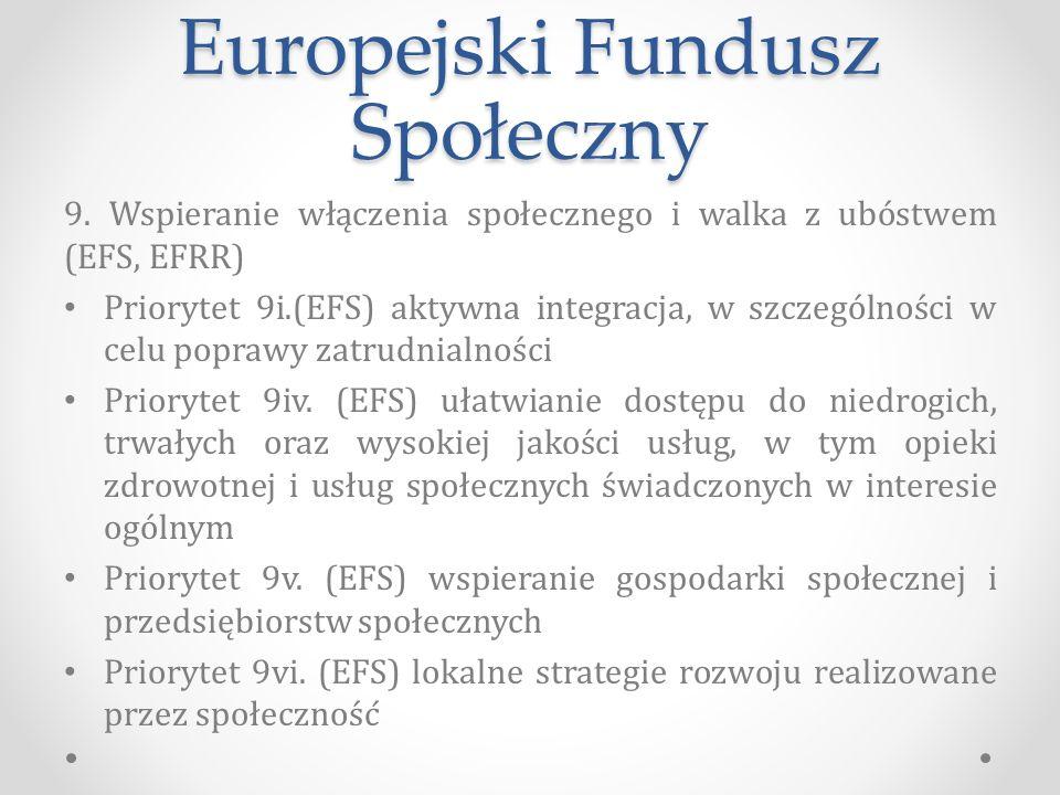Europejski Fundusz Społeczny 9.