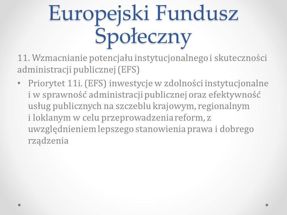 Europejski Fundusz Społeczny 11.