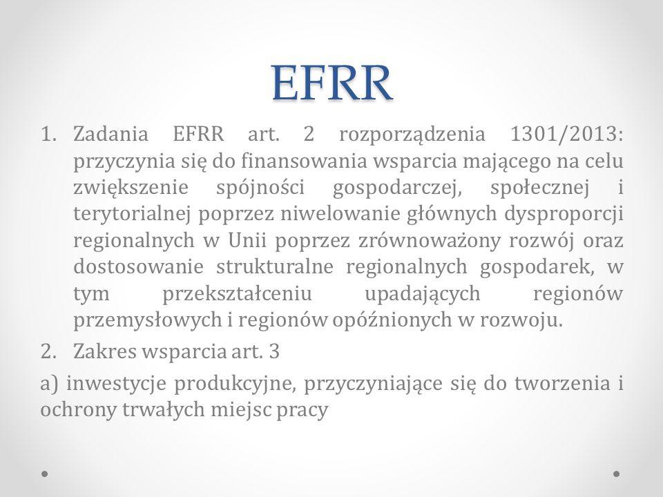 EFRR 1.Zadania EFRR art.