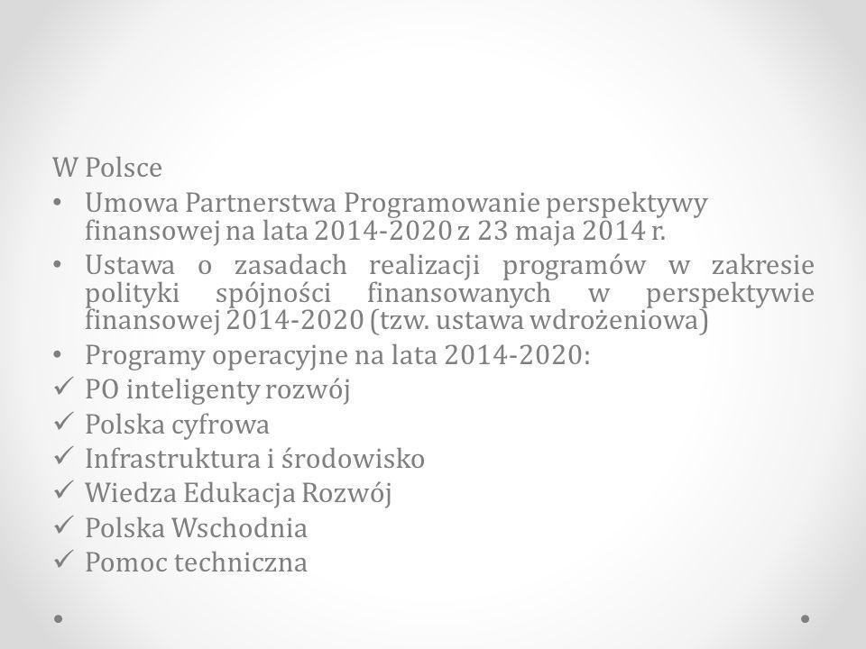 Program Operacyjny Infrastruktura i Środowisko 7.